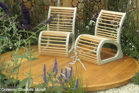 Origineel houten terras <br />'Wild in the City' - Hampton Court Flowershow 2011